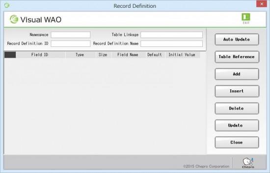12_Record definition screen