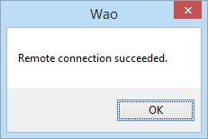 7_Remote connection succeeded