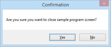 15_Are you sure you want to close sample program screen